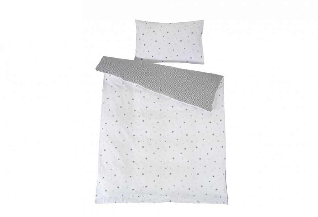 schardt gmbh co kg bettw sche sternchen grau. Black Bedroom Furniture Sets. Home Design Ideas