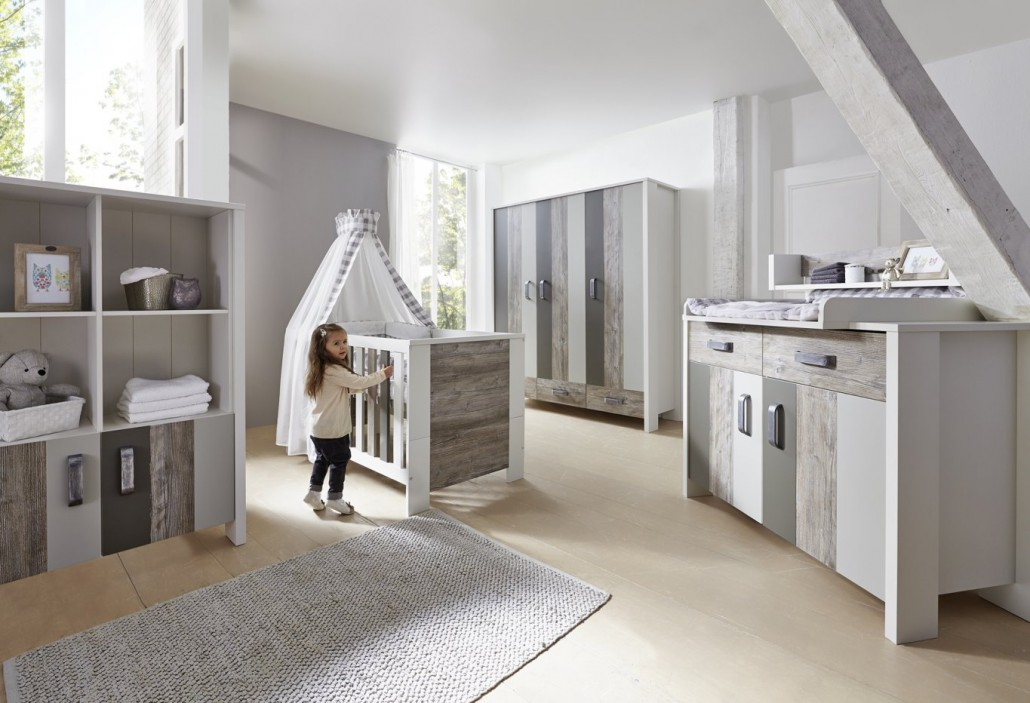 Schardt gmbh co kg baby room woody grey for Kinderzimmer set baby