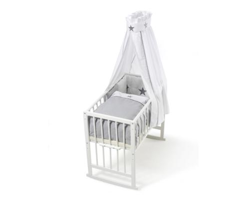schardt gmbh co kg wiege vario wei stern grau. Black Bedroom Furniture Sets. Home Design Ideas