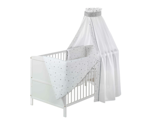 Complete bed Conny white 70x140 cm