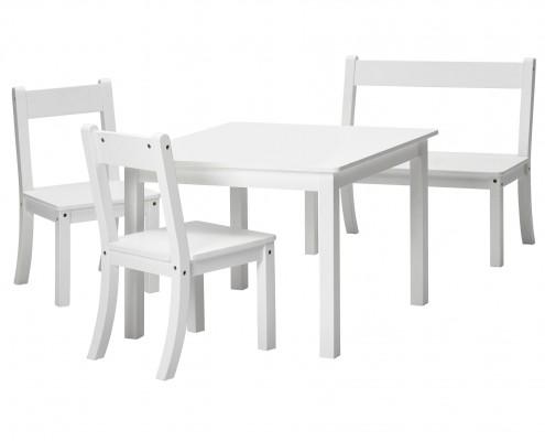 Bueno Sitzgruppe weiss_1 Tisch_2Stuehle_1 Bank