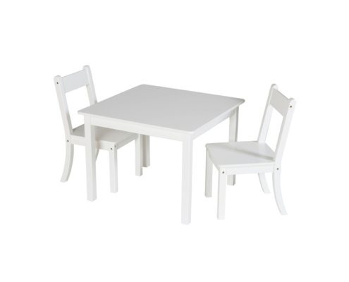 Ensemble chaise - table, 2 chaises + 1 table