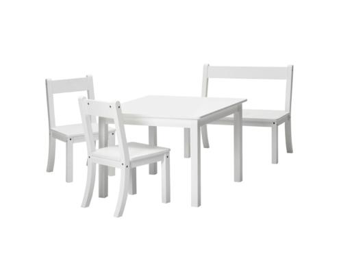 Sitzgruppe, 2 Stühle, 1 Tisch, 1 Bank