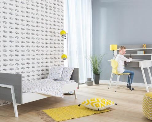 Kinderzimmer Holly Grey mit Schreibtisch