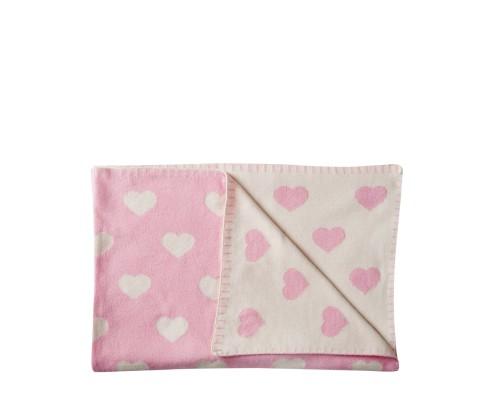 Babykuscheldecke Herzchen rosa