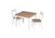 Sitzgruppe, 2 Stühle, 1 Tisch