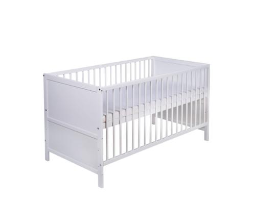 Kinderbett Lenny weiß 70x140 cm